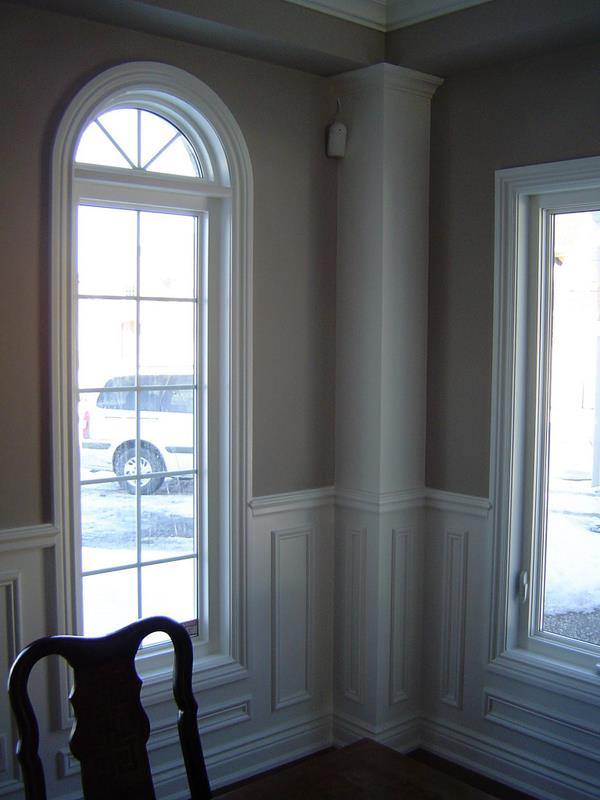 Curved Window and Wainscoting