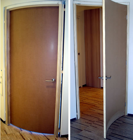Custom curved doors