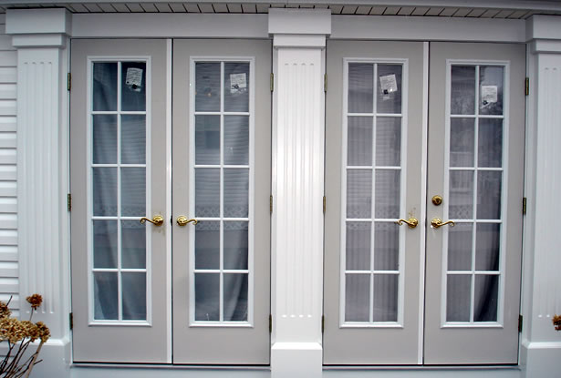 customer double doors with columns