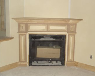 detailed fireplace mantel